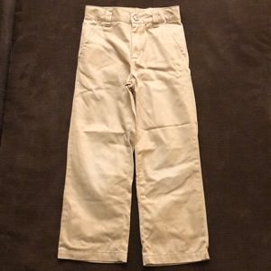 Gymboree Khaki Uniform Dress Pants 6 Slim
